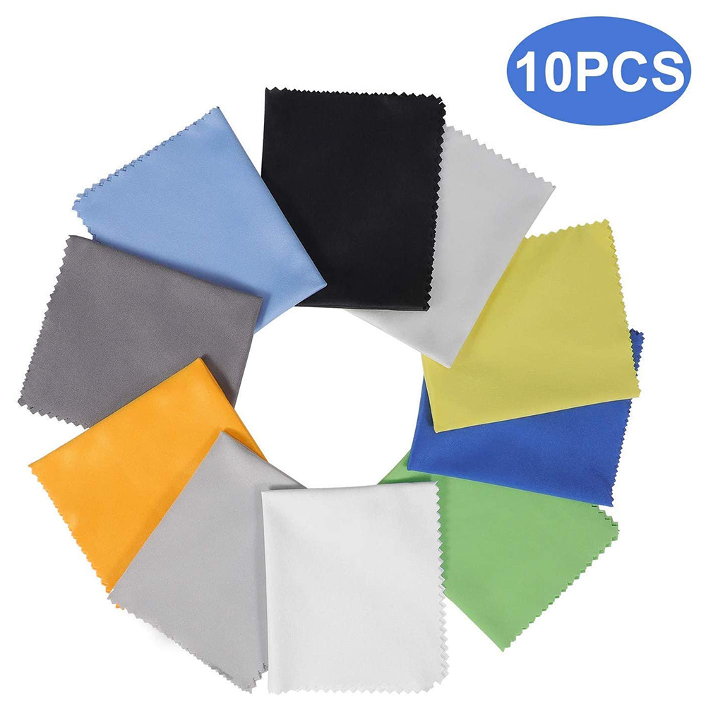 10 Pack Assorted Colors Microfiber Cleaning Cloths