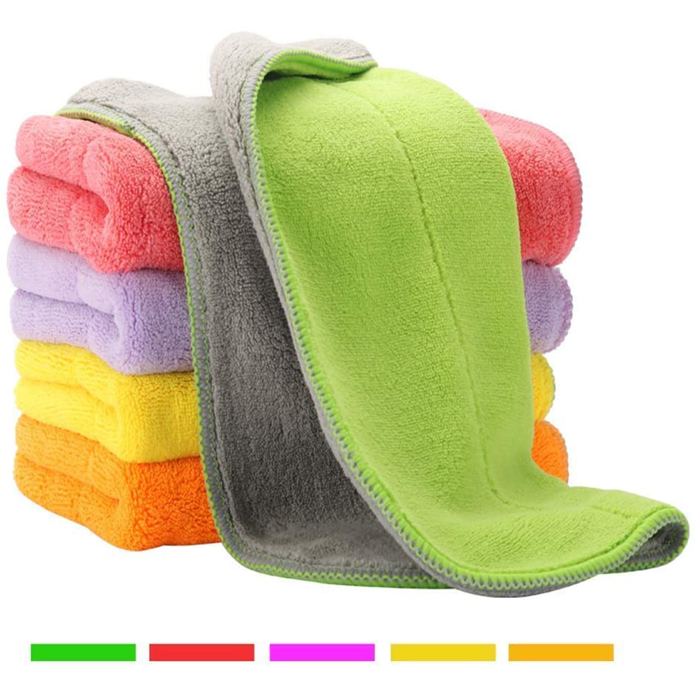 House Again 5 Colors Extra Thick Microfiber Cleaning Cloths