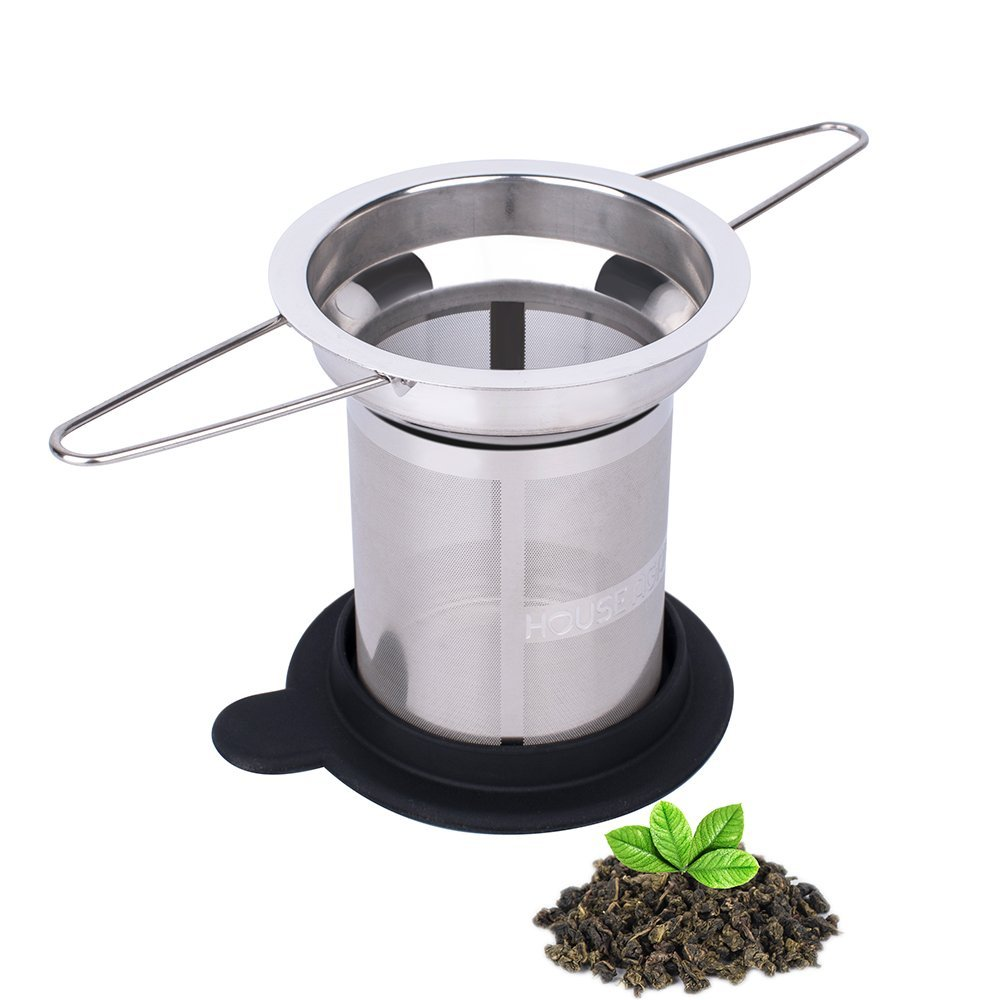 <strong>Loose Leaf Tea Infuser Long Handled Tea Strainer Filter Stainless Steel Fine Mesh Steeper Brewer Diffuser- Perfect for Infusing Steeping Loose Tea</strong>