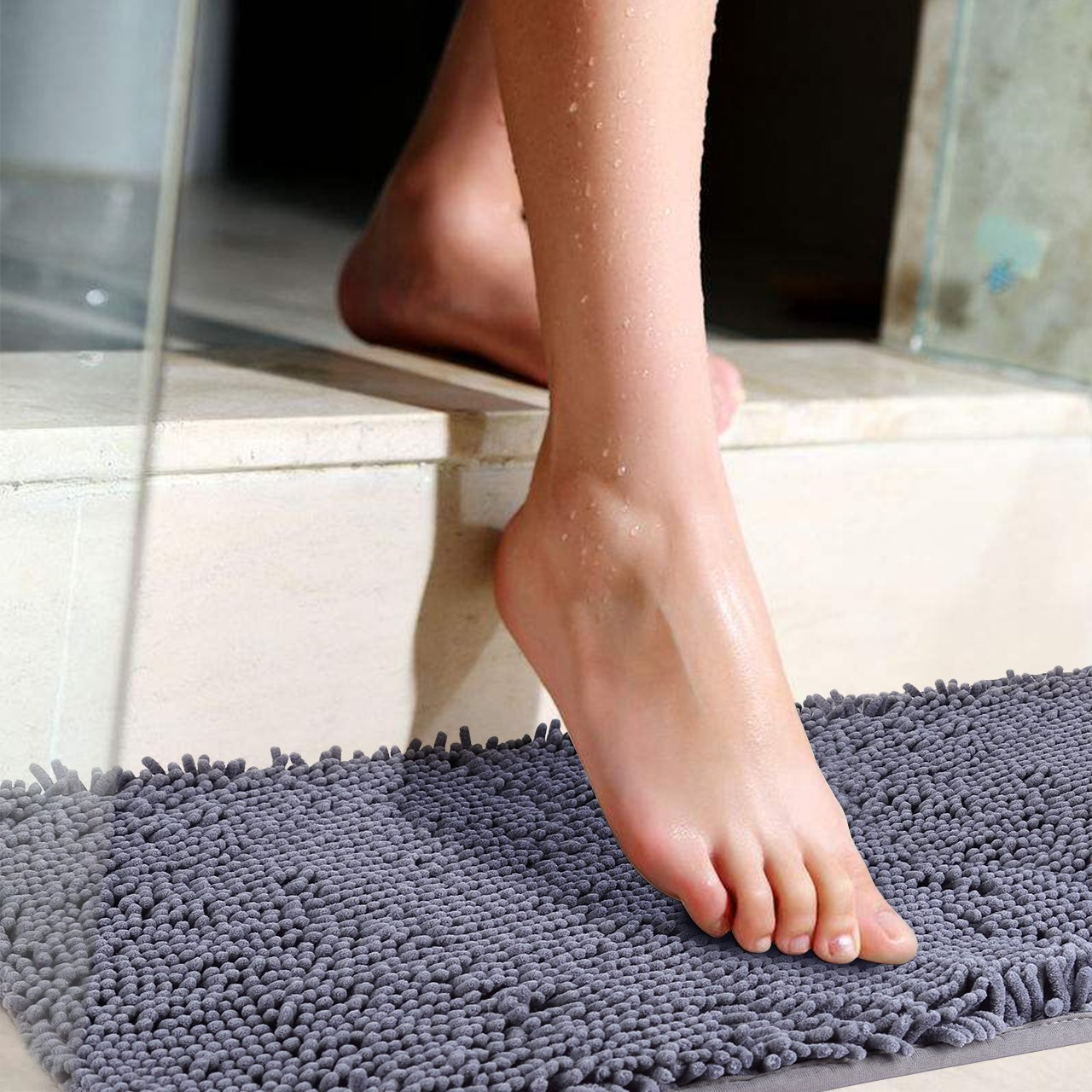 bath mat 20 x 32 ultra thick microfiber plush bathroom rug with